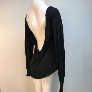 Nightcap super soft long sleeve backless black top